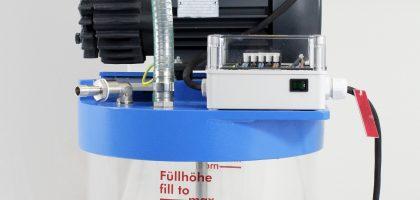 Saugleistung von 16 m³ pro Stunde, integrierte Flüssigkeitsabscheidung und kompakte Bauform